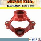 Acoplador flexible de tuberías de FM/UL del hierro dúctil Grooved aprobado de la instalación