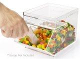 Los proveedores de rápida visualización de caramelos de acrílico transparente caja con el logotipo de impresión