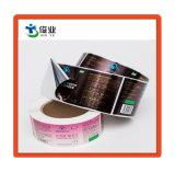 Adesivo de PVC impermeável personalizados com chapa de ouro para a embalagem do vaso
