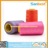 Naaiende Draad van de Polyester van 100% de Kleurrijke Gesponnen met 5000m