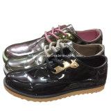 Dama de moda casual PU Zapatos mujer zapatos casuales de inyección (YJ1815-2)