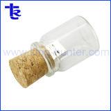 Рекламных подарков стеклянную бутылку деревянные пробки диск USB накопитель