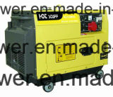 The CoverのHandle Startの5kw Silent Generator