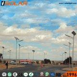 Alta protección IP67 Lumen 100W Lámpara 7m de luz solar calle