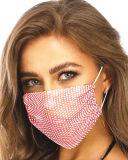 Máscara facial cintilantes Rhinestone Máscara de malha, Crystal mascarar parte esférica discoteca, máscaras faciais de Data