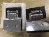 Euro Chuveiro latão sem caixilho esfregou óleo da dobradiça da dobradiça de duche de Bronze