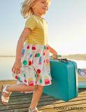 Lindo Globo puntos Gril vestido de ropa de verano para niños