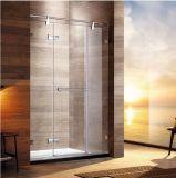 L'hotel di G05p21L facile monta lo schermo di acquazzone a ruote bagno di vetro Tempered dell'acciaio inossidabile 304