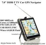 """7.0 """" Voiture de navigation GPS portable avec Wince 6.0 Système GPS Navigator, bluetooth, Caméra de stationnement AV; Dash GPS tracker, tmc, ISDB-T TV, 8 Go de mémoire Flash, l'ODM hôte USB"""