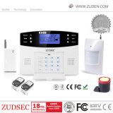 LCD及び声の情報処理機能をもった無線電信GSMの機密保護のホーム防犯ベル