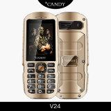 2.4 pulgadas Full Metal, IP56 Resistente al agua, a prueba de polvo teléfono GSM