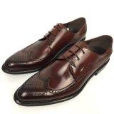 Hombre de nuevo estilo de clase alta de cuero marrón Mens Zapatos de Vestir
