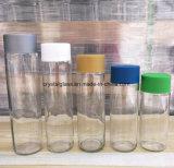 300cc passen Getränkesaft-Glasflasche mit weißer Schutzkappe an