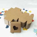 Boîte cadeau en papier kraft recyclé à l'emballage