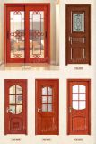 Disegno classico doppio Doo di legno solido per l'entrata della villa (YH-1001)
