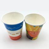 Kundenspezifisches Flexo Drucken-Kaffee-kaltes Getränk-Wegwerfpapiercup mit doppelter PET Beschichtung