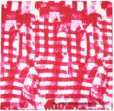 Het abstracte Schilderen in de Roomijs Afgedrukte Zijde van de Zijde omfloerst de Vierkanten van de Zak