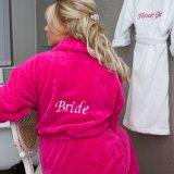 De Badjassen van de Bruid van het huwelijk de Robes van Weinig van de Bloem van de Meisjes van het Bad Bruidsmeisje van de Robes