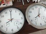 Higrómetro y termómetro exterior de metal el Reloj de pared