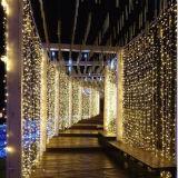 Outdoor LED LED blanc chaud LED de Noël des feux de rideau