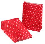 Красный бумажный мешок с плоской нижней части