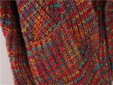 Estilo largo del suéter del invierno de la rebeca de las nuevas mujeres del diseño con el sombrero Hoodie