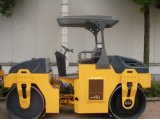Rodillo de camino vibratorio mecánico de la construcción de 6 toneladas
