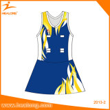 Señora modificada para requisitos particulares ropa de deportes Dress Sublimation Netball Skirt de Healong