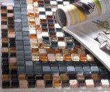 15X15X8мм оформление зеркал в ванной комнате стекло смесь из камня мозаика (M815001)