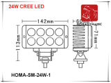 6 indicatore luminoso di azionamento luminoso eccellente dell'indicatore luminoso 6000k LED del lavoro di pollice 24W LED
