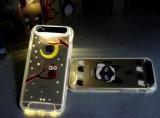 Telefone material da tampa traseira da alta qualidade TPU que chama o diodo emissor de luz caixa clara instantânea para a tampa móvel do iPhone 6