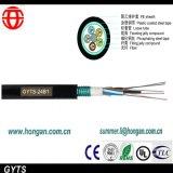 24 cabos de fibra óptica do núcleo com a fita de aço ondulada Armoring