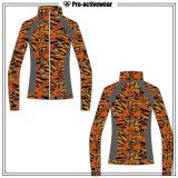 주문 요가 의류 체조 착용 운영하는 여자 스포츠 재킷