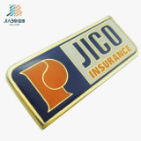35*15mm Jiaboの工場安いカスタム金の折りえりPinの金属の名前ボタンのバッジ