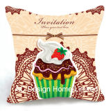 Delicious Square Party Cup Cake Design Decor Fabric Cushion W/Filling