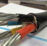 Le PVC a isolé le câble de 4 noyaux