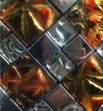 아름다운 황금 유리제 예술 유리제 모자이크 (VMW3644 30X30cm)