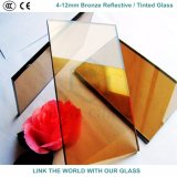 セリウムが付いている10mmの青銅及び金青銅色の反射の/染められたガラス及びガラス窓のためのISO9001