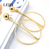 Form-Gold-Tone Schmucksache-Edelstahlsun-Mond-kundenspezifische Absinken-Ohrringe