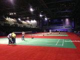 PVC/Vinyl Badminton Sports Bodenbelag-Oberflächen-Gericht