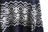ウールは首の編む人のプルオーバーのあたりで混じる