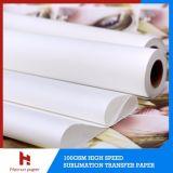 Papel de impressão de papel de transferência de sublimação clásica de 90GSM 100GSM para têxteis de poliéster 1,6 m