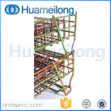 Gaiola dobrável galvanizada do engranzamento de fio do armazenamento da manipulação material