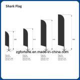 Pubblicità della bandiera di volo della bandierina dello squalo con la consegna veloce