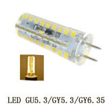 Gu6.35 220V 3014 72LED 4W Silicon LED Auto Lamp