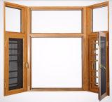 중국 스크린을%s 가진 목제 곡물 완료 알루미늄 여닫이 창 슬라이딩 윈도우