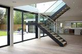 تصميم حديثة فولاذ داخليّ درج مستقيمة لأنّ منزل سكنيّة مع [سليد ووود] خطوة