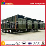 Dei 3 assi di trasporto alto forte del palo della parete laterale della rete fissa del camion rimorchio animale semi