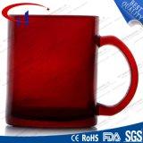 240ml de rode Hete Kleur verkoopt de Mok van het Water van het Glas (CHM8133)