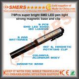 Clip magnetica girante chiara del lavoro della casella dell'indicatore luminoso del lavoro della penna di 6 SMD LED